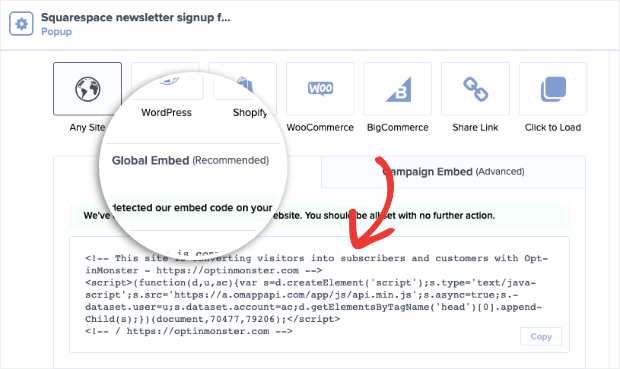 optinmonster global site code