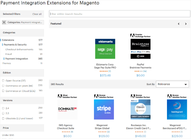 payment integrations for magento
