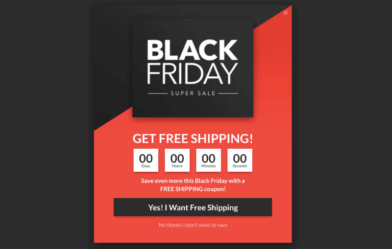 black friday holiday template