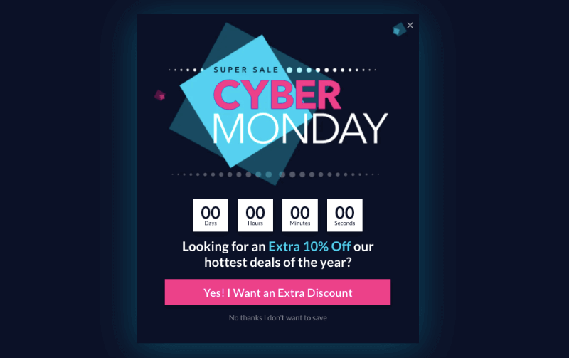 cyber monday holiday template