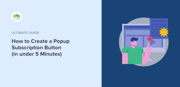 how to create a popup subscription button featured image