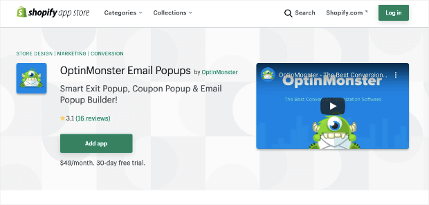 optinmonster shopify app updated