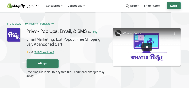 privy popups for shopify