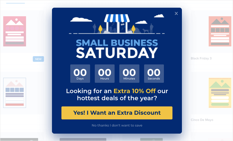 small business saturday holiday template