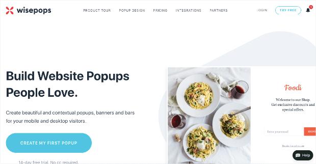 wisepops homepage