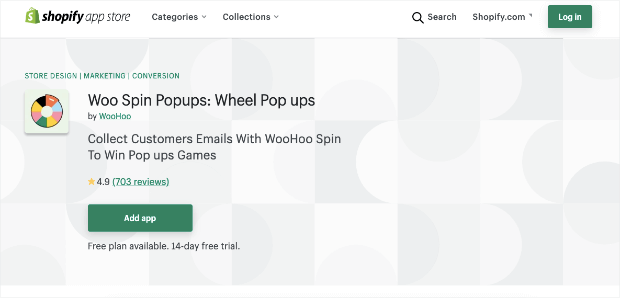 woo spin popups homepage
